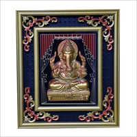 Golden Frame Lord Ganesha Scenery Photo Frame