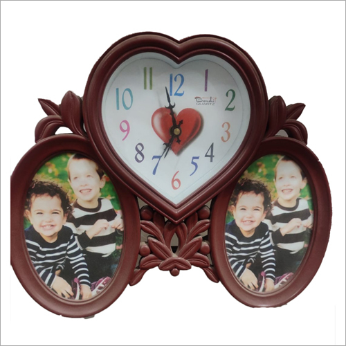 Family Photo Frame With Wall Clock