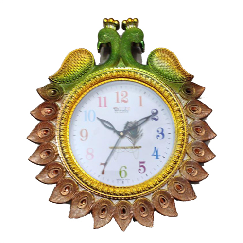 Decoartive Peacock Design Wall Clock