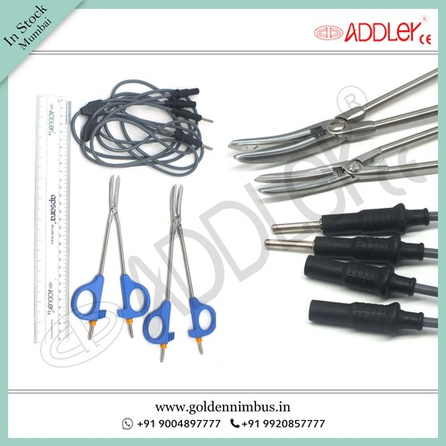 Brand New Addler Laparoscopic Bi-clamp With Cable Set Of 2 ( Size - Small & Large )