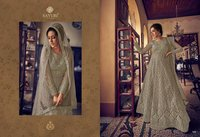 Sayuri Aarushi Butterfly Net With Front N Back Full Embroidery
