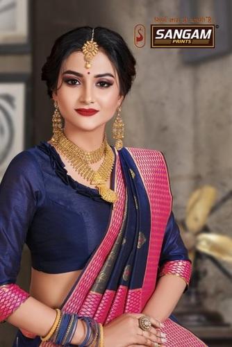 Sangam Prints Sanskruti Crystal Silk Designer Saree Catalog