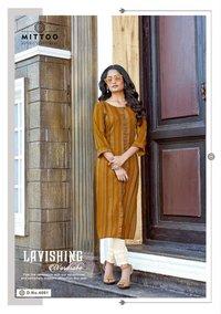 Mohini Vol 6 Weaving Strips Kurtis With Pant
