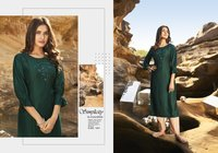 Kalaroop Octavia Vol 5 Linen Silk With Fancy Handwork Kurti Catalog