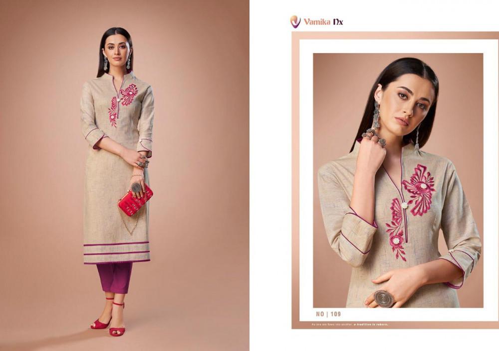 Arihant Vamika Nx Rosy Vol-2 Premium Cotton Casual Wear Kurti Catalog