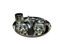 silver plated dinner set