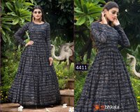Khushboo Fashion Flory Vol 10 Georgette Anarkali Style Patry Wear Gown Catalog
