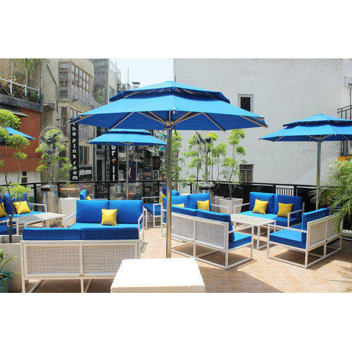 Two Layered Stainless Steel Garden and Poolside Umbrellas