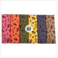 Multicolored Fancy Floral Print Rayon Fabric
