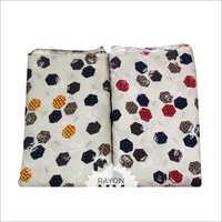 Printed Bedsheet Fancy Rayon Fabric