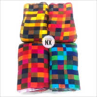 Designer Check Suit Rayon Fabric