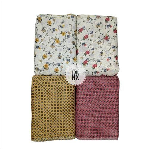 Rayon Two Tone Foil Print Fabric