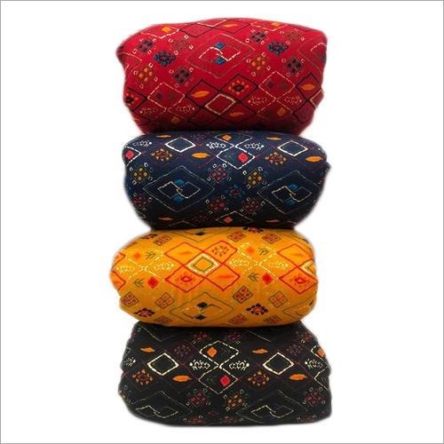 Foil Print Rayon Fabric