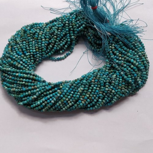Natural Turquoise Round Faceted Beads