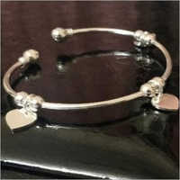 Finish Party Wear 925 Sterling Silver Bracelet