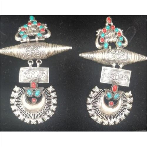925 Sterling Silver Indian Vintage Look Earrings