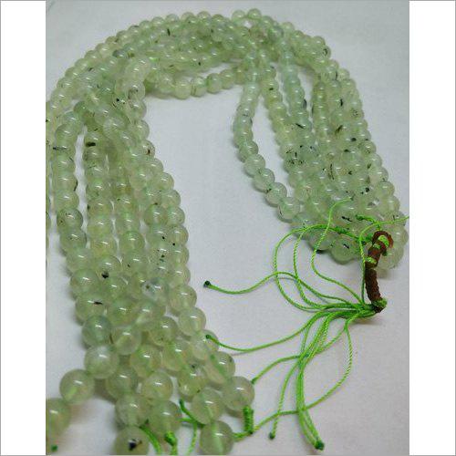 Prehnite Round Natural Beads