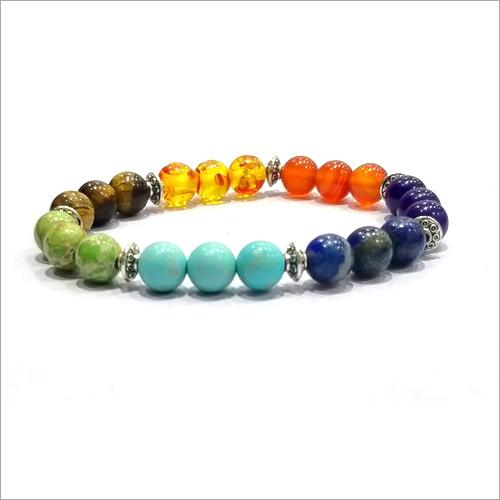 Seven 7 Chakra Stone Healing Bracelet Reiki Use