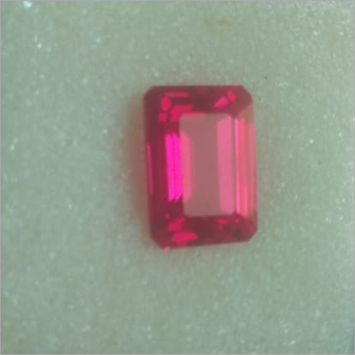 Lab Created Red Ruby Stone
