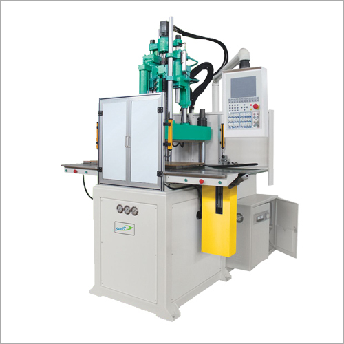 Double Sliding Vertical Screw Type Injection Moulding Machine