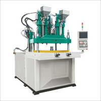 Two Colour Rotary Type Vertical Injection Moulding Machine