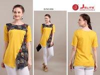 Camellia Designer Short Rayon & Cotton Top