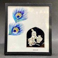 Laddu Gopal Silver frame