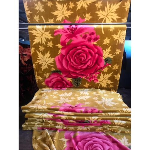 Floral Print Mink Blanket