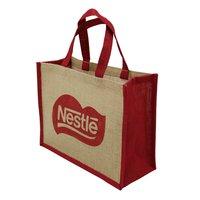 PP Laminated Jute Tote Bag With Jute Cord Handle