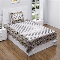 Single Bed Printed Bedsheet