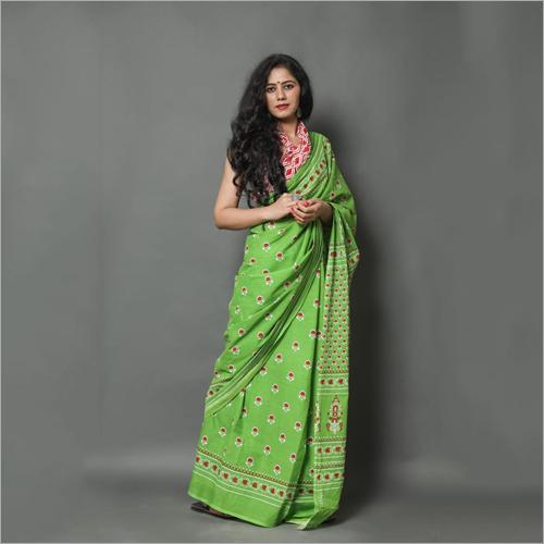 Jaipuri Bagru Print Cotton Saree