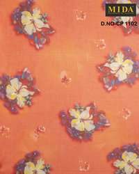 Floral Printed Cotton Voile Fabric
