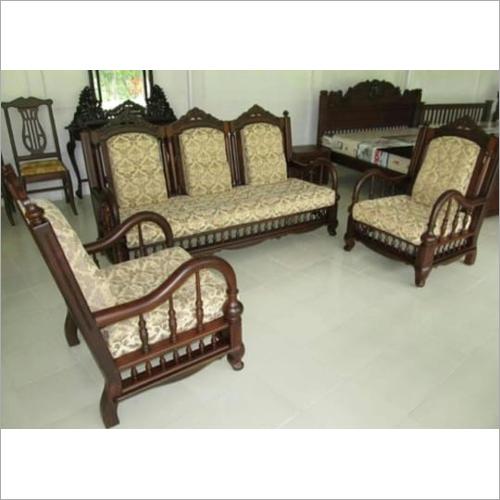 Wooden Fabric Sofa Set