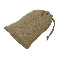 Jute Drawstring Gift Pouch With Cotton Drawstring