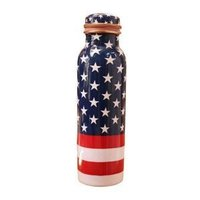 American Printed Copper Bottle