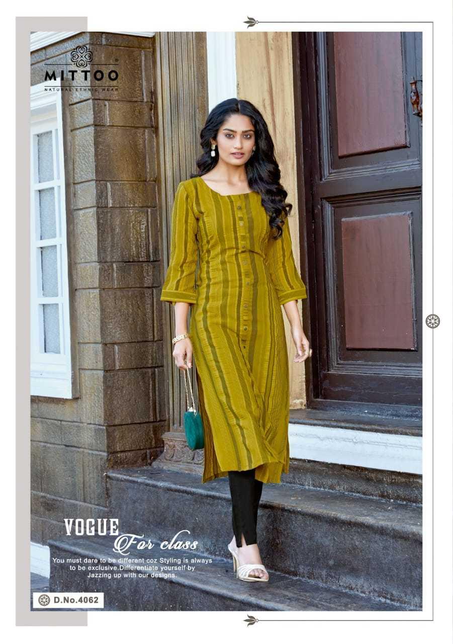 Mittoo Mohini Vol 6 Weaving Lycra Kurti With Bottom Catalog