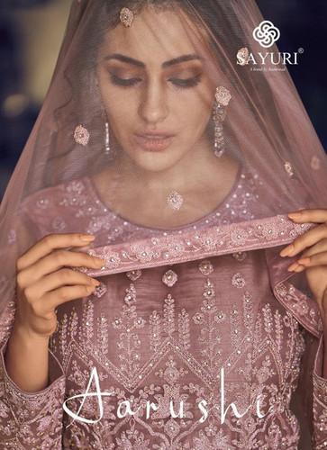 Aashirwad Creation Sayuri Aarushi Butterfly Net Designer Salwar Suits Catalog