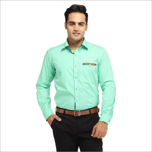 Mens Polyester Cotton Shirt