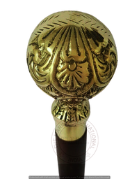 Latest New Product of 2021 Walking Stick With Designing Round Brass Handle, 36