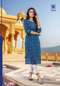 Bandhani Vol 2 Daily Wear Rayon & Cotton Bandhej Print Handwok Kurtis