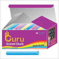 Mix Color Cylindrical Shape School Chalk