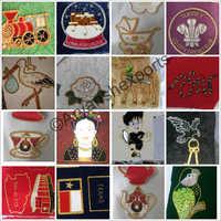 Decorative Christmas Badges