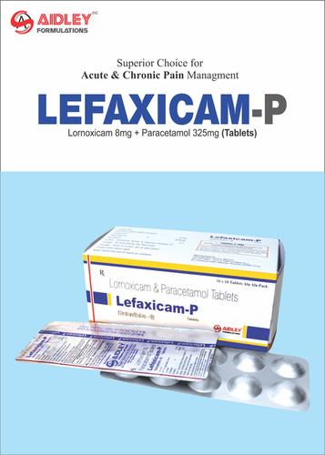 Lornoxicam 8mg + Paracetamol 325mg Tablets