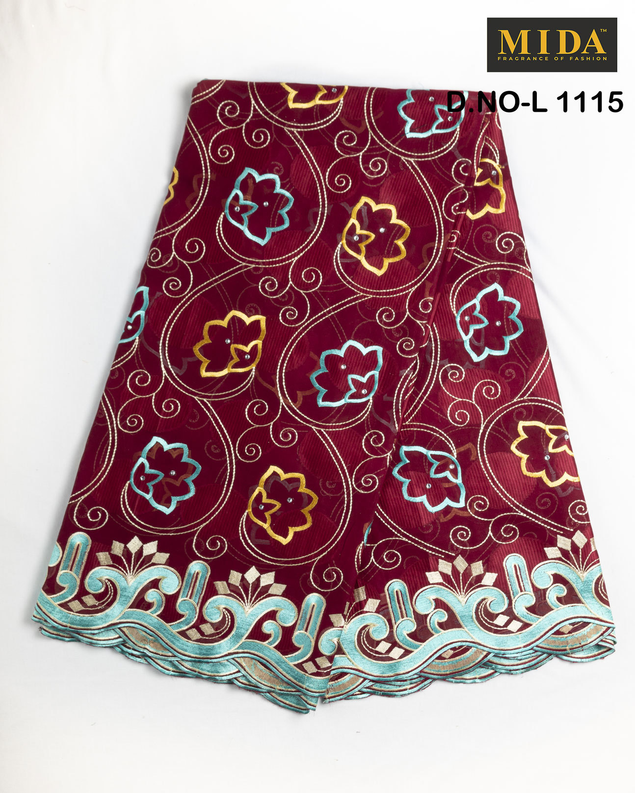 cotton voile Embroidered Fabric