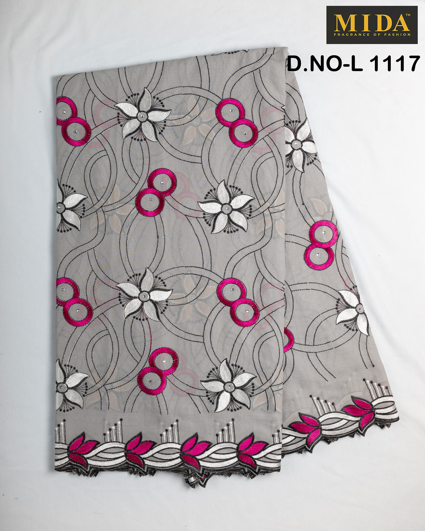 Embroidered  African clothing fabrics