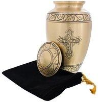 Cross Engraved Cremation Urn