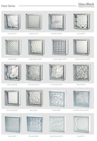 Clear Glass Block Brick