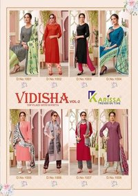 VIDISHA VOL-2 Designer 3 Pics Thread Work Kurtis