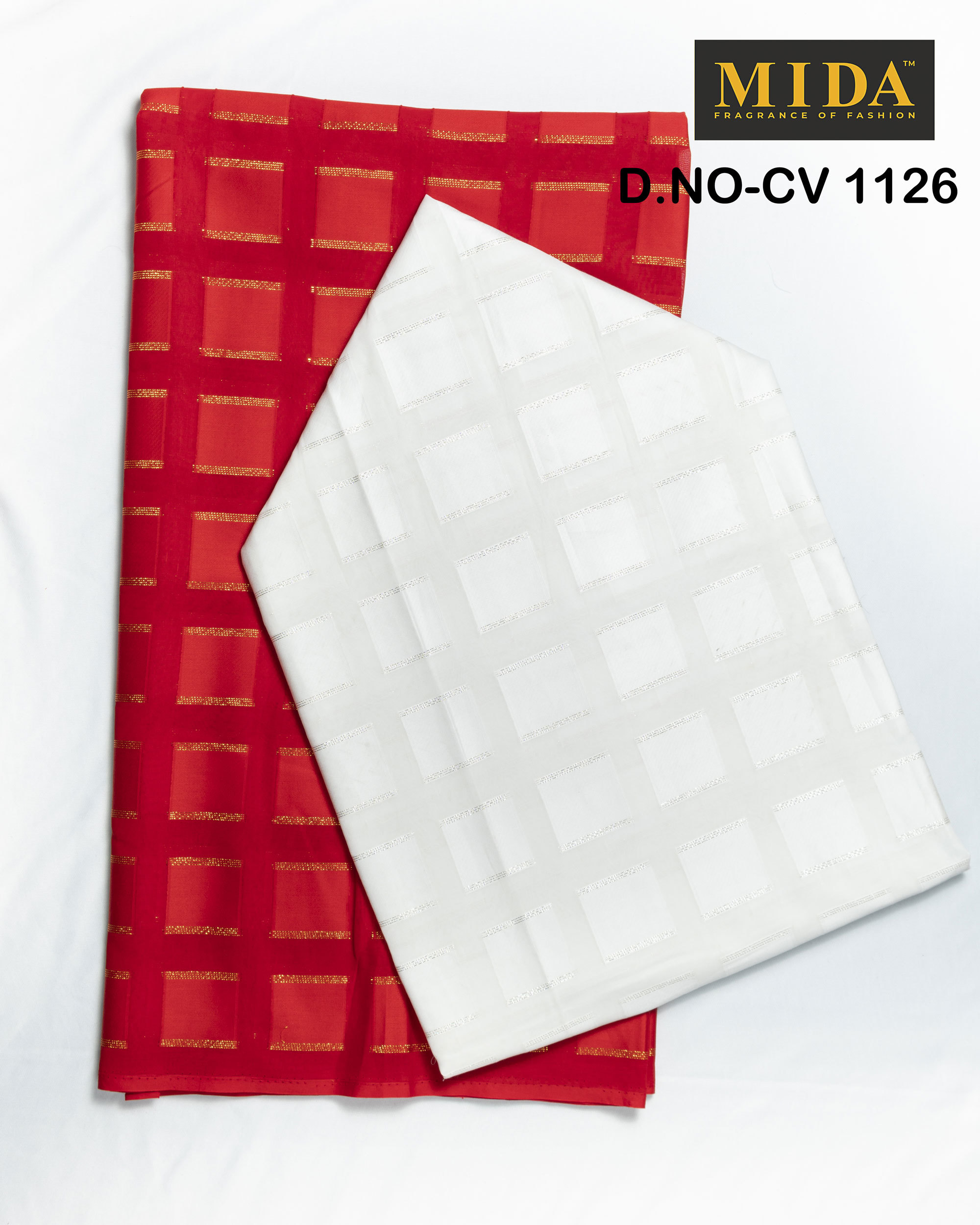 Red Box  Jacquard Cotton Voile Fabric