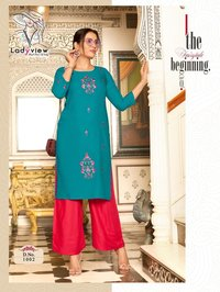 MENKA VOL 2 Heavy 14kg Rayon with Heavy Value Added Embrodery Work With Pant
